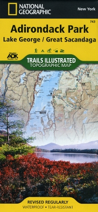 Trails Illustrated Adirondack Map: Lake George/Great Sacandaga